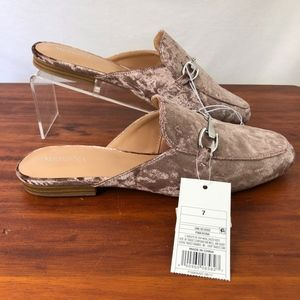 Merona Slip-on Mule Lavender Velvet Shoes Sz7